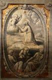 Agony in the garden. By Parmigianino in the Basilica of Santa Maria della Steccata, Parma, Italy royalty free stock image