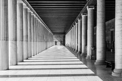 Agorà. View of the agora temple in athens, greece Stock Image