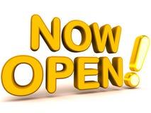 Agora aberto ao negócio Fotografia de Stock Royalty Free