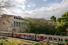 Agora akropol i muzeum Obrazy Stock