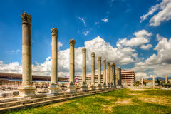 """Agora Ancient City,Izmir. Izmir's Ancient Agora was  built at the base of Pagos Hill, the highest hill in ancient Smyrna/Izmir. What is an """"agora""""? According Royalty Free Stock Image"""