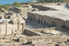 Agora of the ancient Kamiros Royalty Free Stock Photos