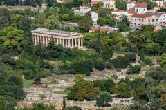 Agora antico di Atene alla Grecia Fotografie Stock Libere da Diritti