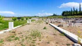 Agora antyczny Pella, Macedonia, Grecja Zdjęcie Royalty Free