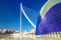 Agora, Assut de l`Or Bridge at the City of Arts and Sciences in Valencia, Spain Royalty Free Stock Image