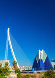 Agora, Assut de l`Or Bridge at the City of Arts and Sciences in Valencia, Spain Royalty Free Stock Images
