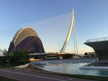 Agora and the Assut de l'Or Bridge Royalty Free Stock Images