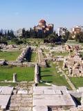 Agora - Athene, Griekenland Royalty-vrije Stock Foto's