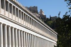 The Agora in Athens, Greece. Main stoa building of the Agora in Athens, the capital of Greece Royalty Free Stock Photography