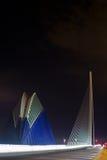 Agora and bridge CITY OF ARTS & SCIENCES VALENCIA Stock Photos