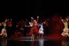 Agora cantando, agora dança do mundo de Áustria dança-espanhola do flamenco- Fotos de Stock