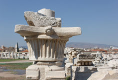 Agora column (original  capital)1 Royalty Free Stock Photo