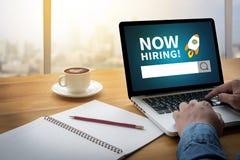 Agora contratando! Fotografia de Stock Royalty Free
