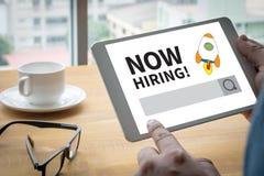 Agora contratando! Imagens de Stock