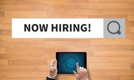 Agora contratando! Fotografia de Stock