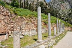 Agora at Delphi. Agora on the sacred way at Delphi Royalty Free Stock Images