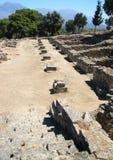 Agora di Phaistos dai punti fotografie stock libere da diritti
