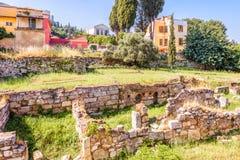 Agora du grec ancien, Athènes, Grèce images libres de droits