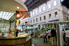 Agora Food Market in Chania, Crete, Greece Royalty Free Stock Photography