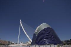 Agora i most miasto nauka w Valencia Zdjęcie Royalty Free