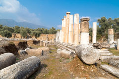 Agora Nysa Antyczny miasto Zdjęcie Royalty Free