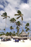 Agora os convidados inclusivos do hotel de Larimar que apreciam no Bavaro encalham em Punta Cana, República Dominicana Fotografia de Stock Royalty Free