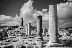 Agora przy Kourion Archeologicznym terenem Limassol okręg, Cyp Obrazy Royalty Free