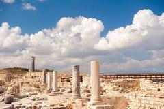 Agora przy Kourion Archeologicznym terenem Limassol okręg, Cyp Obrazy Stock