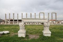 Agora of Smyrna in Izmir, Turkey Royalty Free Stock Photos