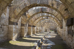 Agora of Smyrna from 4th century BC Izmir Turkey 2014 Royalty Free Stock Photo