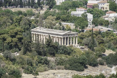 Agora and the Temple of Hermes in Ancient Agora in Athens, Greece Stock Images