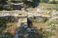 Agora of Troy. Remains of the buildings near the agora of Troy, possibly Priam's city of the Iliad, . Turkey Stock Images