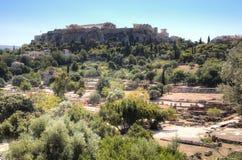 Agora w Ateny, Grecja Zdjęcia Royalty Free