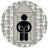agoraphobie Crainte d'entrer dans ouverte ou endroits serrés S'est fermé à clef à la maison Effrayé d'aller dehors Beaucoup de ge illustration libre de droits