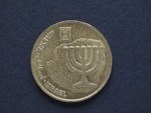 Agorot för 10 israel mynt Arkivfoton
