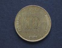 Agorot för 10 israel mynt Royaltyfri Fotografi