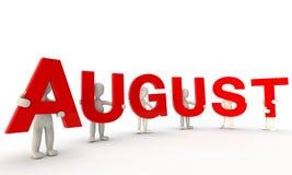 Agosto Imagens de Stock