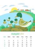 Agosto illustrazione vettoriale
