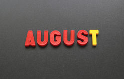 agosto Immagine Stock