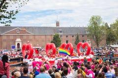 5 agosto 2017 Amsterdam, Paesi Bassi Parata Amsterdam g del canale Fotografia Stock Libera da Diritti