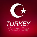 30 agosto bayrami Victory Day Turkey dello zafer Fotografia Stock