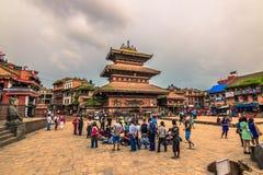 18 agosto 2014 - centro in Bhaktapur, Nepal Immagine Stock Libera da Diritti