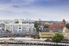 4 agosto 2017 - Chennai, INDIA: Bu storici di società di Chennai Fotografie Stock