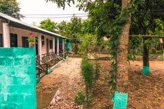 25 agosto 2014 - città rurale di Sauraha, Nepal Immagine Stock Libera da Diritti