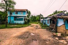 25 agosto 2014 - città rurale di Sauraha, Nepal Fotografie Stock