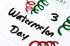 3 agosto, giorno nazionale dell'anguria Fotografia Stock Libera da Diritti