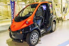 agosto, Japão, Tóquio 2018, auto exposição dos carros do futuro O carro do futuro, auto exposição do carro Automóvel do futuro, imagem de stock