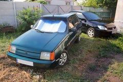 20 agosto 2018 Kiev, Ucraina Vecchia automobile Zaz Slavuta fotografie stock