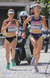 6 agosto ` 17 - maratona di campionati di atletica del mondo di Londra: Flanagan Fotografia Stock Libera da Diritti