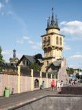 Agosto 2016, Mosca, Russia Vista dello zoo di Mosca dalla via Krasnaya Presnya immagine stock